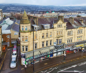 Keighley - Illustrious Victorian era terraced buildings on Cavendish Street