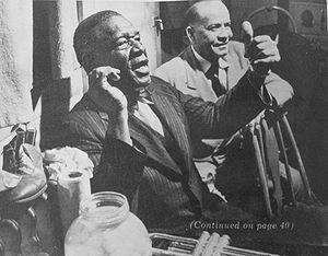 Papa Celestin - Papa Celestin (foreground) with Alphonse Picou. Photo by Stanley Kubrick, 1950