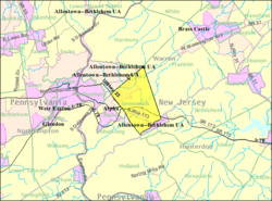 Census Bureau map of Greenwich Township, Warren County, New Jersey