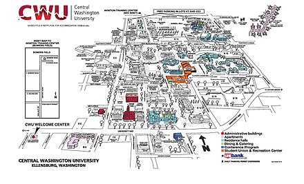 central washington university campus map Central Washington University Wikiwand central washington university campus map