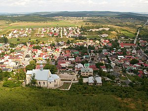 Chęciny - Chęciny seen from the castle