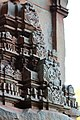 Chandramouleshwar Temple, Minute carvings on gopuram carved in Chalukya style on the outer walls of the temple.jpg