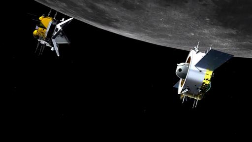 Chang-e-5 Orbiter Ascender seperation