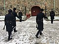 Changing of the guard (HMKG, Royal Guards) at Akershus fortress, Oslo, Norway. Winter uniforms. 2017-11-30 c.jpg
