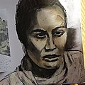 Charcoal and chalk pastel sketch of Pania Newton by L Maule.jpg