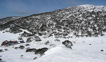 The Snowy Mountains Charlotte Pass Village in August.jpg