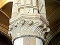 Chars (95), église Saint-Sulpice, abside, chapiteau du 2e pilier isolé du rond-point (algues colerpues inclinées par le passage de l'eau).JPG