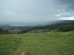 Cheddar village and reservoir