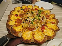 Cheese pizza with seafood.jpg