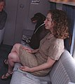 Chelsea Clinton and Buddy the Dog Sitting in Marine One- 07-24-1998 (6461538787).jpg