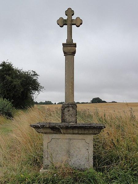 Chenières (Meurthe-et-M.) croix de chemin nord