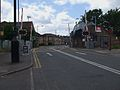 Chertsey station level crossing looking south.JPG