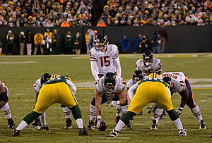 Josh McCown - McCown (15) lines up against the Green Bay Packers in 2011