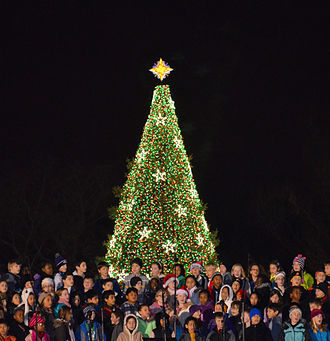 National Christmas Tree (United States) - A children's choir from Olney Elementary School in Olney, Maryland, sing before the 2012 National Christmas Tree.