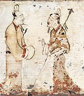 A tomb painting from the early Western Han Dynasty.