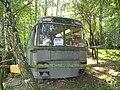Chotouň (Chrášťany), starý autobus jako rybářská klubovna.JPG