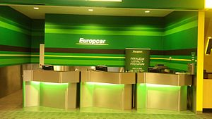 Europcar - Europcar office in the Christchurch Airport