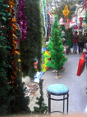 Mirza Ghalib Street - Christmas wares for sell