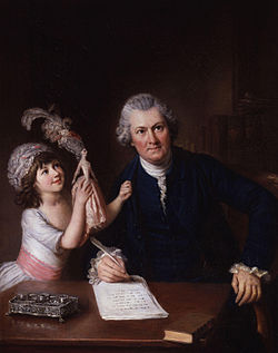 Christopher anstey with his daughter by william hoare