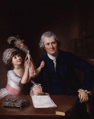 Christopher Anstey - Image: Christopher Anstey with his daughter by William Hoare