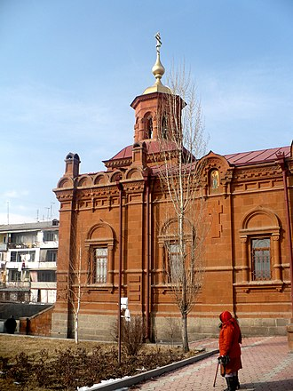Church of the Intercession of the Holy Mother of God - Image: Church Pokrova Presvyatoy Bogorodici Yerevan ext 2