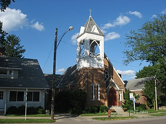 National Register of Historic Places listings in Champaign County, Ohio - Image: Church of Our Saviour, Mechanicsburg