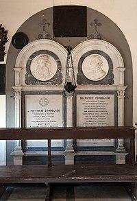 Cimitero di settignano, tomba di niccolò tommaseo e della moglie diamante 01.jpg