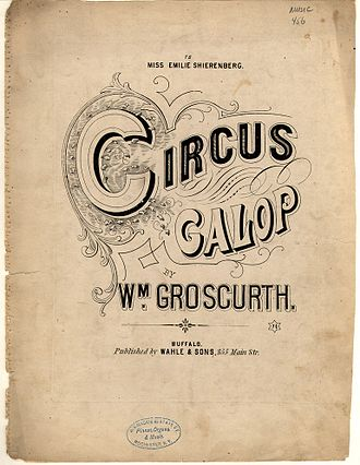 "1869 in music - ""Circus Galop"" 1869 sheet music cover"
