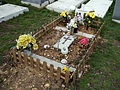City of London Cemetery and Crematorium - temporary grave decorations 06.jpg