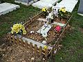 City of London Cemetery and Crematorium - temporary grave decorations 06.jpg