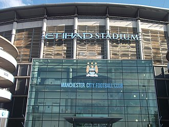 Etihad Airways - Etihad Stadium, home ground of Manchester City Football Club.