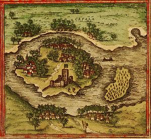 Portuguese expedition to Sofala (Anaia, 1505) - City of Sofala (Cefala), c. 1572, with Fort São Caetano visible