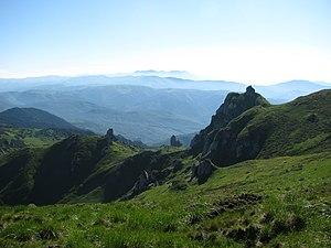 Eerie landscape in the Ciucaş mountains, Prahova County, Romania.