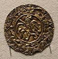 Cividale, necropoli cella, tomba del cavaliere, disco in oro sbalzato, 600-615 ca.jpg