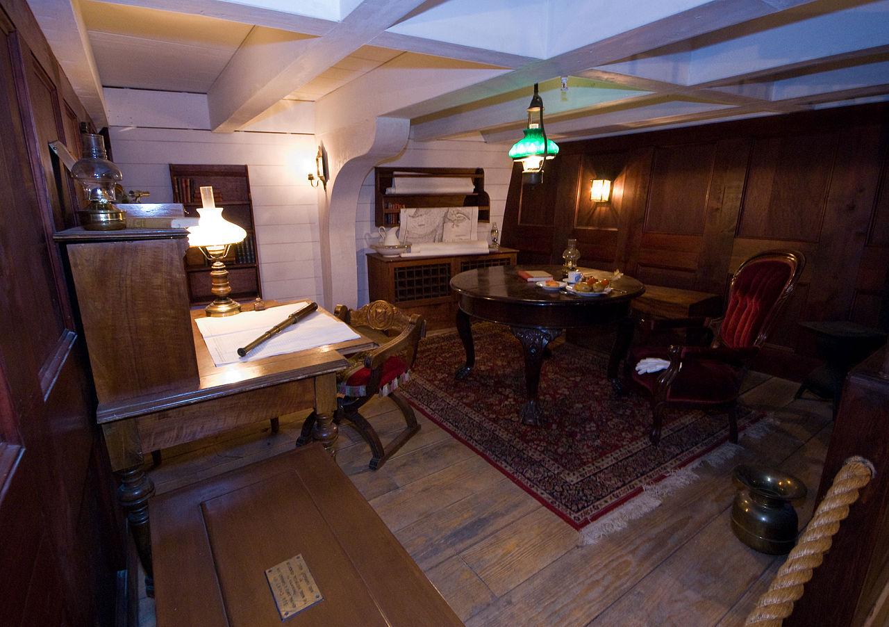 file civil war naval museum uss hartford captain 39 s cabin