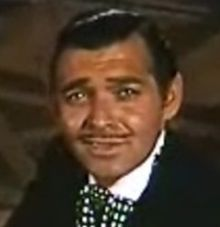 Clark Gable en 1939 en una scena d'a cinta Gone with the Wind.