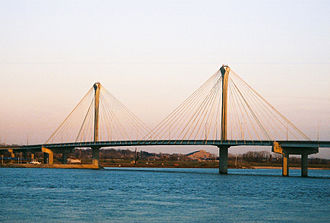 Clark Bridge - View from West Alton, MO