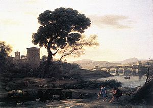 Claude Lorrain - Landscape with Shepherds - The Pont Molle - WGA04993.jpg