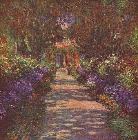 Monet, Weg im Garten des Künstlers