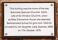 Clementine Churchill house plaque.jpg