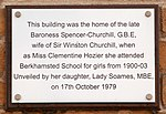Clementine Churchill house plaque.jpg