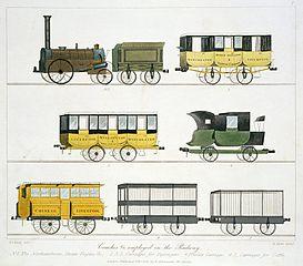 Material móvil del ferrocarril de Manchester a Liverpool