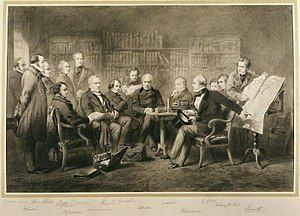 Aberdeen ministry - The Coalition Ministry of 1854 as painted by Sir John Gilbert, 1855