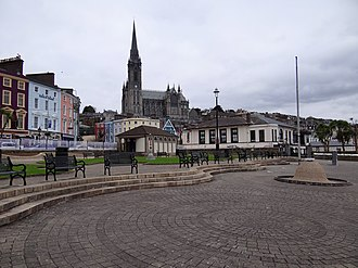St Colman's Cathedral, Cobh - Image: Cobh Promenade and Cathedral 2012