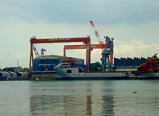Cochin Ship Yard Cranes.JPG