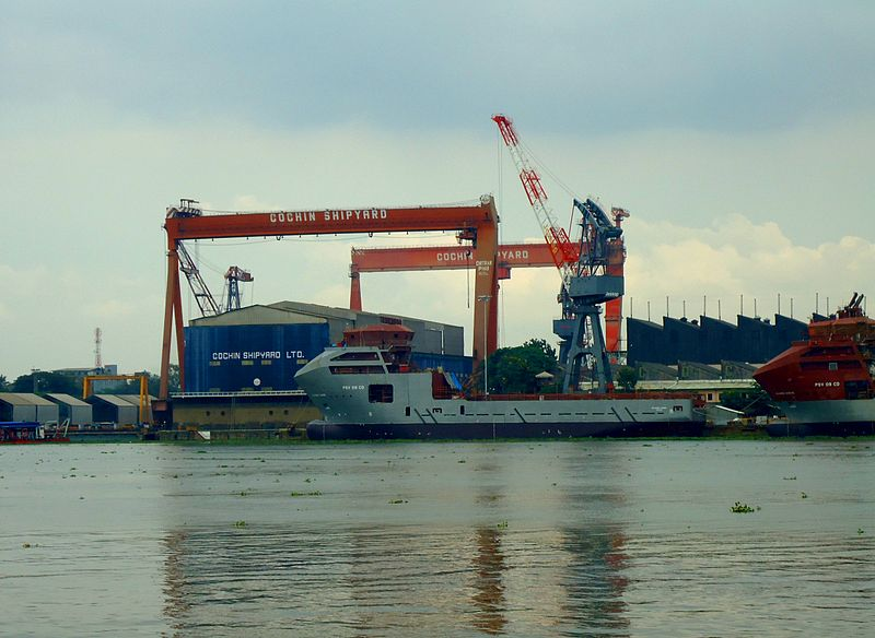 File:Cochin Ship Yard Cranes.JPG