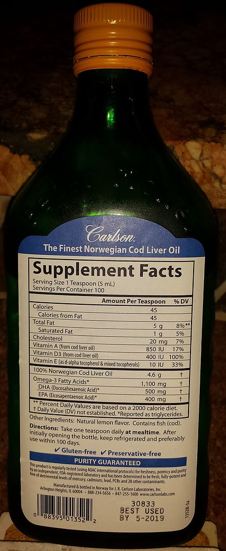 Diets supplemented with cod liver oil have shown beneficial effects on psoriasis 3