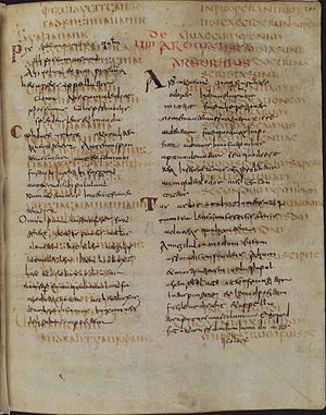 Codex Carolinus - Text of Romans 15:3-8