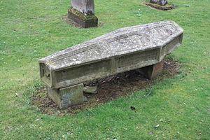 Ratho - Coffin stone in Ratho churchyard
