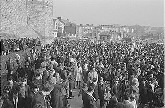 Investiture of the Prince of Wales - A large protest against the holding of the investiture in Caernarfon took place in March 1969